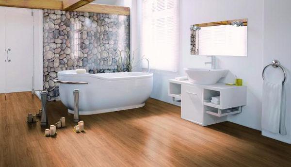 Podlaha realizace koupelna